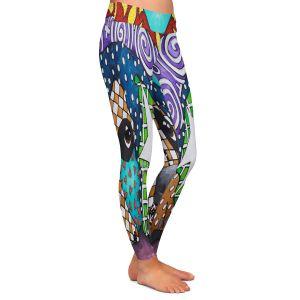 Casual Comfortable Leggings | Marley Ungaro - Sad Rottie | dog collage pattern quilt