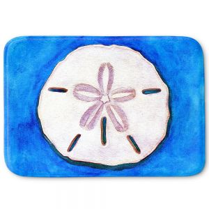 Decorative Bathroom Mats | Marley Ungaro - Sand Dollar | Ocean seashell still life nature