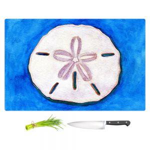 Artistic Kitchen Bar Cutting Boards | Marley Ungaro - Sand Dollar | Ocean seashell still life nature