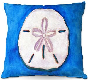 Decorative Outdoor Patio Pillow Cushion | Marley Ungaro - Sand Dollar | Ocean seashell still life nature