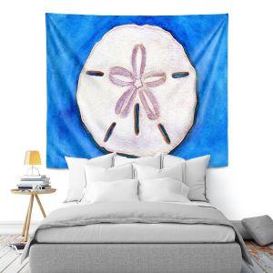 Artistic Wall Tapestry | Marley Ungaro - Sand Dollar | Ocean seashell still life nature