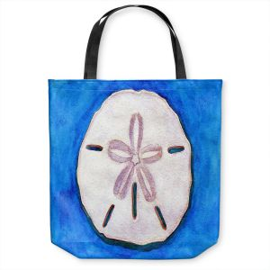 Unique Shoulder Bag Tote Bags | Marley Ungaro - Sand Dollar | Ocean seashell still life nature