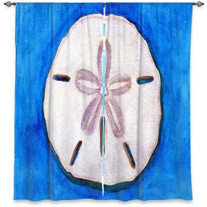 Decorative Window Treatments | Marley Ungaro - Sand Dollar | Ocean seashell still life nature