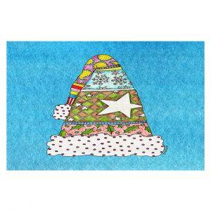 Decorative Floor Coverings | Marley Ungaro - Santa Hat Aqua | Santa Hat Holidays Christmas