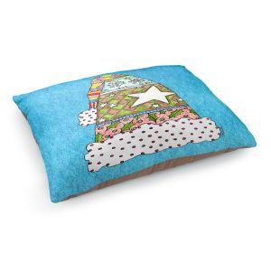 Decorative Dog Pet Beds   Marley Ungaro - Santa Hat Aqua   Santa Hat Holidays Christmas