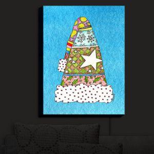 Nightlight Sconce Canvas Light | Marley Ungaro - Santa Hat Aqua