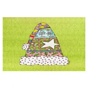 Decorative Floor Coverings | Marley Ungaro - Santa Hat Lime | Santa Hat Holidays Christmas