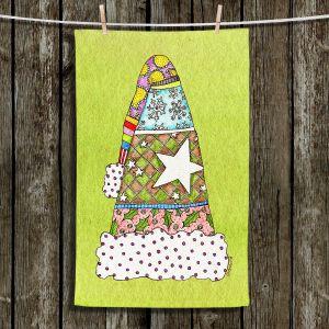 Unique Bathroom Towels   Marley Ungaro - Santa Hat Lime   Santa Hat Holidays Christmas