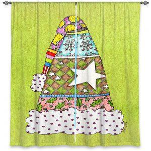 Decorative Window Treatments   Marley Ungaro - Santa Hat Lime   Santa Hat Holidays Christmas