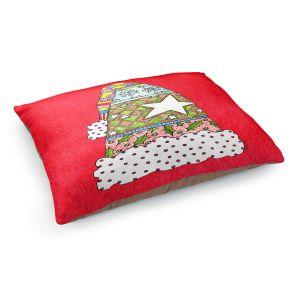 Decorative Dog Pet Beds   Marley Ungaro - Santa Hat Red   Santa Hat Holidays Christmas