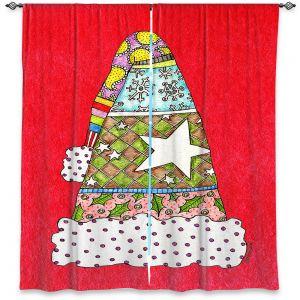 Decorative Window Treatments | Marley Ungaro - Santa Hat Red | Santa Hat Holidays Christmas