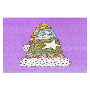 Decorative Floor Coverings | Marley Ungaro - Santa Hat Violet | Santa Hat Holidays Christmas