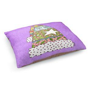 Decorative Dog Pet Beds   Marley Ungaro - Santa Hat Violet   Santa Hat Holidays Christmas