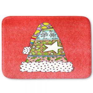 Decorative Bathroom Mats   Marley Ungaro - Santa Hat Watermelon   Santa Hat Holidays Christmas
