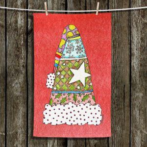 Unique Bathroom Towels | Marley Ungaro - Santa Hat Watermelon | Santa Hat Holidays Christmas