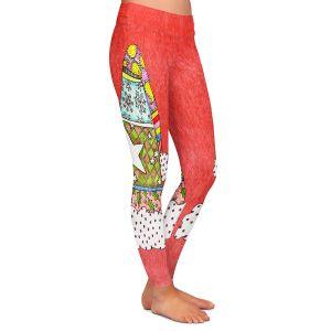 Casual Comfortable Leggings | Marley Ungaro - Santa Hat Watermelon | Santa Hat Holidays Christmas