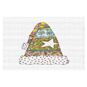 Decorative Floor Coverings | Marley Ungaro - Santa Hat White | Santa Hat Holidays Christmas