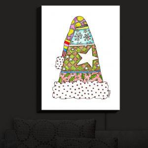 Nightlight Sconce Canvas Light | Marley Ungaro - Santa Hat White