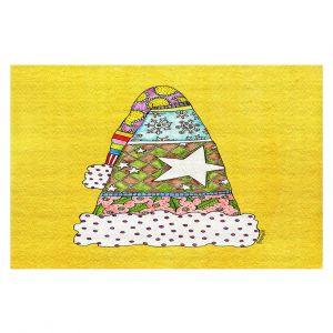 Decorative Floor Coverings   Marley Ungaro - Santa Hat Yellow   Santa Hat Holidays Christmas