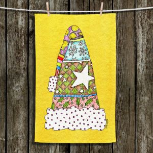 Unique Bathroom Towels   Marley Ungaro - Santa Hat Yellow   Santa Hat Holidays Christmas