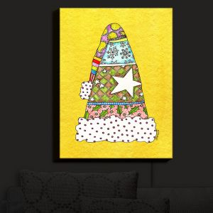 Nightlight Sconce Canvas Light | Marley Ungaro - Santa Hat Yellow