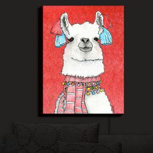 Nightlight Sconce Canvas Light | Marley Ungaro - Scarf Llama Watermelon