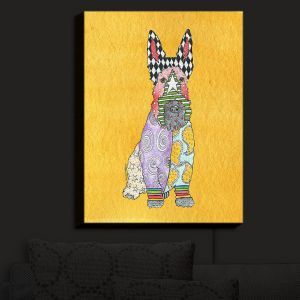 Nightlight Sconce Canvas Light | Marley Ungaro - Scottish Terrier Gold | Dogs Animals Pets Colorful Funky Scottish Terrier