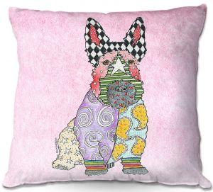 Throw Pillows Decorative Artistic | Marley Ungaro - Scottish Terrier Pastel Pink