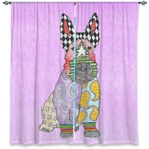 Decorative Window Treatments | Marley Ungaro - Scottish Terrier Pastel Purple