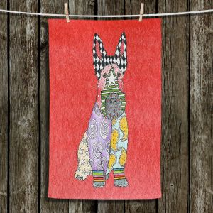 Unique Hanging Tea Towels | Marley Ungaro - Scottish Terrier Watermelon | Dogs Animals Pets Colorful Funky Scottish Terrier
