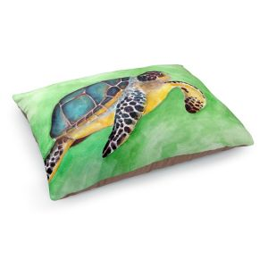 Decorative Dog Pet Beds | Marley Ungaro - Sea Turtle | Ocean nature creature reptile