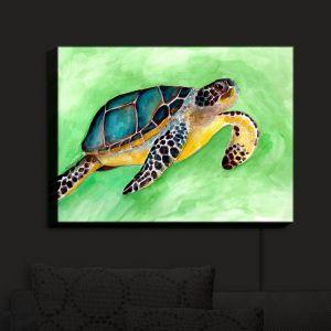 Nightlight Sconce Canvas Light   Marley Ungaro - Sea Turtle