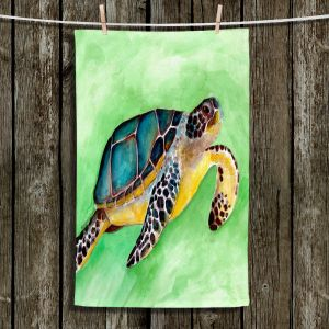 Unique Hanging Tea Towels | Marley Ungaro - Sea Turtle | Ocean nature creature reptile