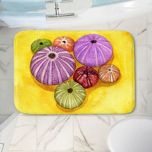 Decorative Bathroom Mats | Marley Ungaro - Seaurchin Shells | Ocean seashell still life nature