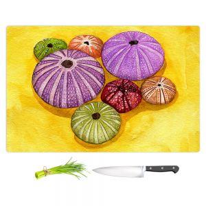 Artistic Kitchen Bar Cutting Boards | Marley Ungaro - Seaurchin Shells | Ocean seashell still life nature