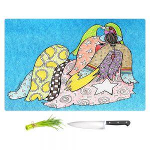 Artistic Kitchen Bar Cutting Boards | Marley Ungaro - Shihtzu Dog Aqua