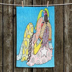 Unique Hanging Tea Towels | Marley Ungaro - Shihtzu Dog Aqua | Dogs Animals Shihtzu