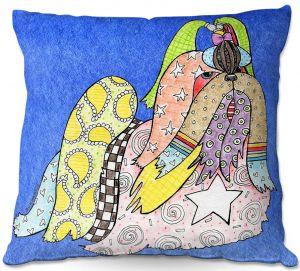 Throw Pillows Decorative Artistic | Marley Ungaro - Shihtzu Dog Blue
