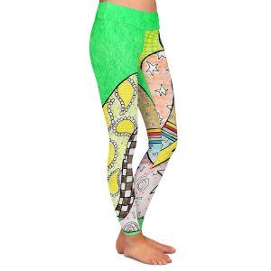 Casual Comfortable Leggings | Marley Ungaro - Shihtzu Dog Kelly