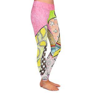 Casual Comfortable Leggings | Marley Ungaro - Shihtzu Dog Light Pink