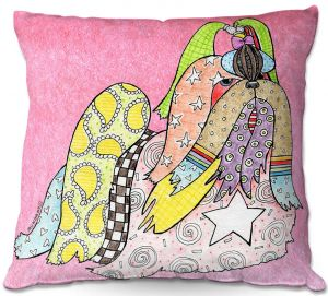 Throw Pillows Decorative Artistic | Marley Ungaro - Shihtzu Dog Light Pink
