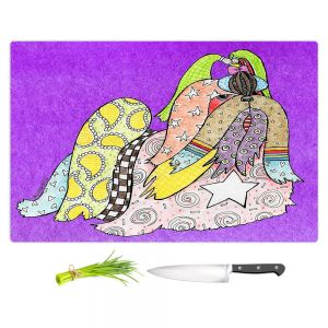 Artistic Kitchen Bar Cutting Boards | Marley Ungaro - Shihtzu Dog Purple