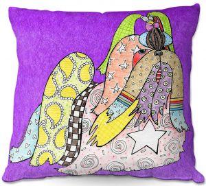 Throw Pillows Decorative Artistic | Marley Ungaro - Shihtzu Dog Purple