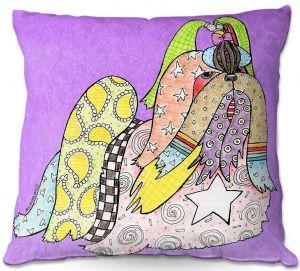 Throw Pillows Decorative Artistic | Marley Ungaro - Shihtzu Dog Violet