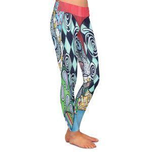 Casual Comfortable Leggings | Marley Ungaro - Siamese Cat | Pattern whimsical abstract