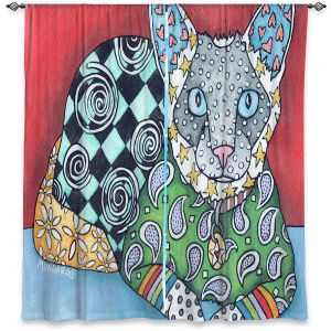 Decorative Window Treatments | Marley Ungaro - Siamese Cat | Pattern whimsical abstract