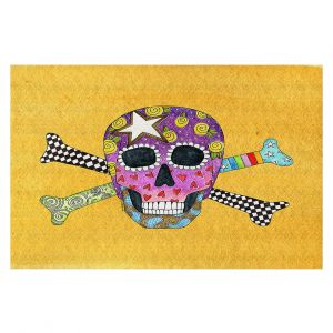 Decorative Floor Coverings | Marley Ungaro - Skull and Cross Bones Gold | Skull and Cross Bones Stylized