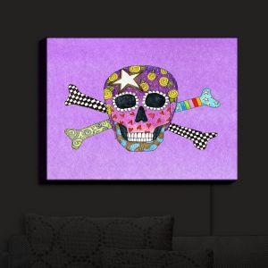 Nightlight Sconce Canvas Light | Marley Ungaro - Skull and Cross Bones Violet