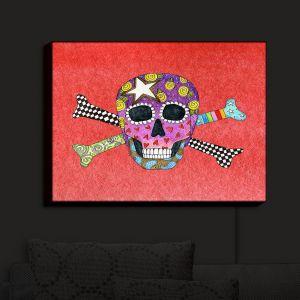 Nightlight Sconce Canvas Light | Marley Ungaro - Skull and Cross Bones Watermelon