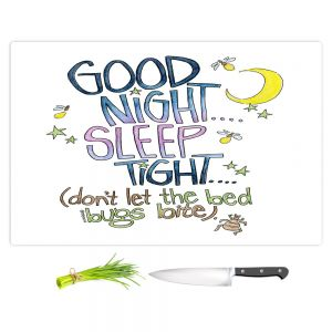 Artistic Kitchen Bar Cutting Boards | Marley Ungaro - Sleep Tight | Text typography words